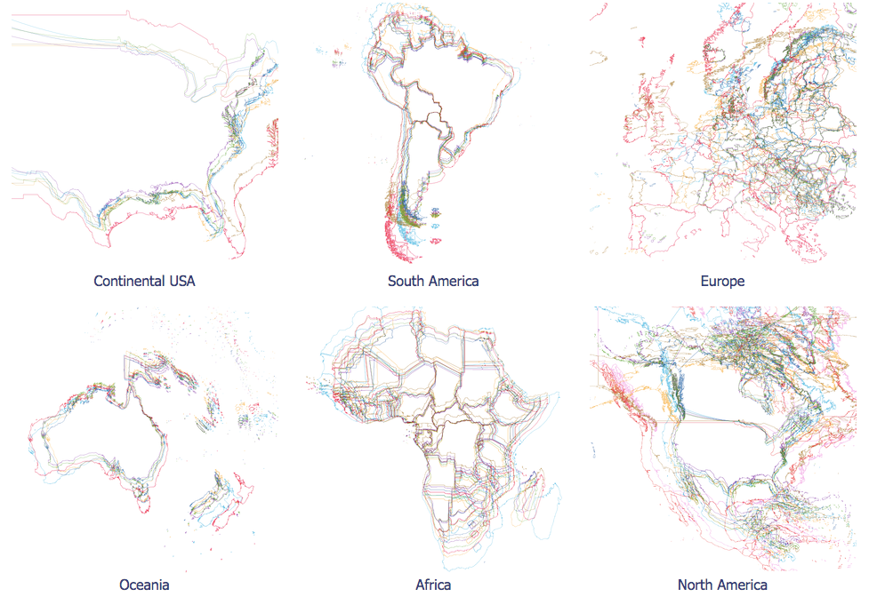 Map projections art